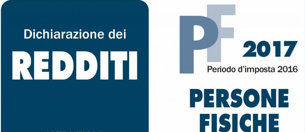 Modello redditi pf 2017 cafindustria for Dichiarazione dei redditi 2017